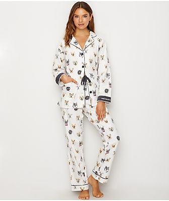 P.J. Salvage Think Pawsitive Flannel Pajama Set
