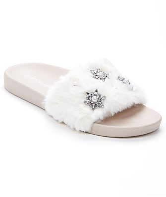 P.J. Salvage Faux Fur   Pearl Slide Slippers 7989a3dc1