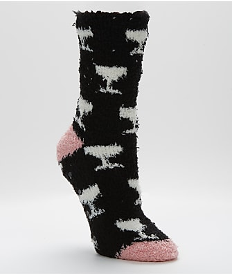 P.J. Salvage Plush Wine Socks