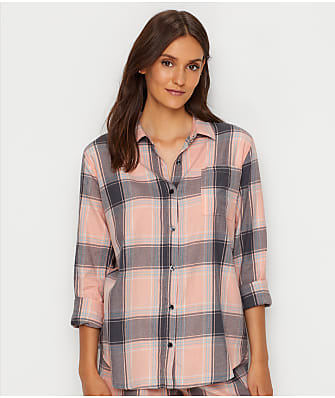 P.J. Salvage Plaid Please Woven Pajama Top