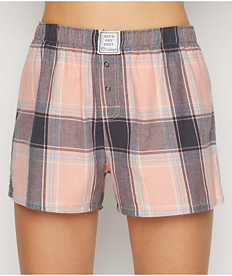 P.J. Salvage Plaid Please Woven Sleep Shorts