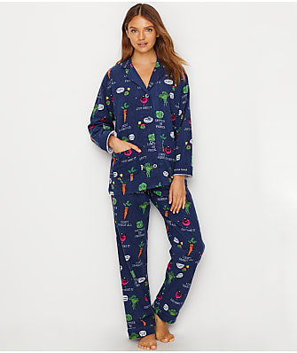 P.J. Salvage Veggie Flannel Pajama Set