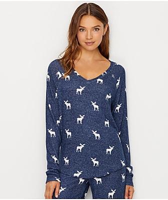 P.J. Salvage Winter Escape Knit Pajama Top
