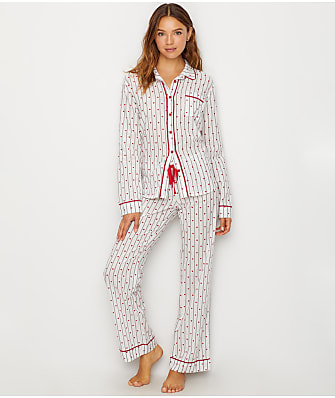 P.J. Salvage Amour Mini Heart Woven Pajama Set