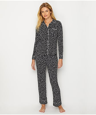 P.J. Salvage Mini Hearts Knit Pajama Set