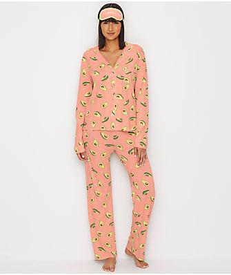 P.J. Salvage Avocado Knit Pajama Set