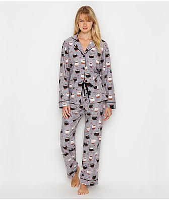 P.J. Salvage Coffee Is Life Flannel Pajama Set