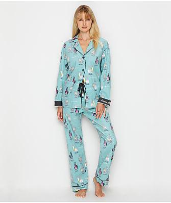 P.J. Salvage Happy Llamakah Flannel Pajama Set