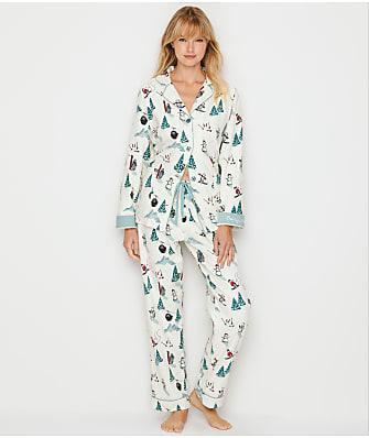P.J. Salvage Bearly Awake Flannel Pajama Set