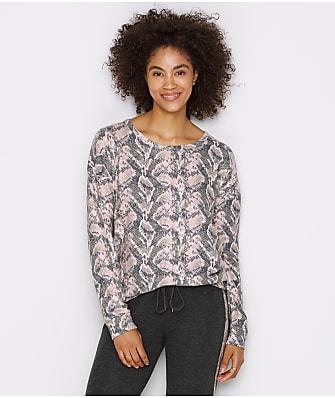 P.J. Salvage Sweater Knit Snakeskin Lounge Top