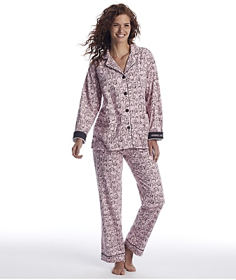 P.J. Salvage Mornings Are Ruff Flannel Pajama Set