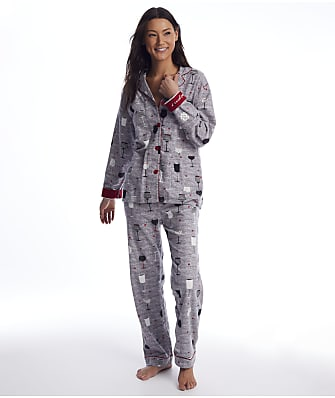 P.J. Salvage Time To Wine Down Flannel Pajama Set