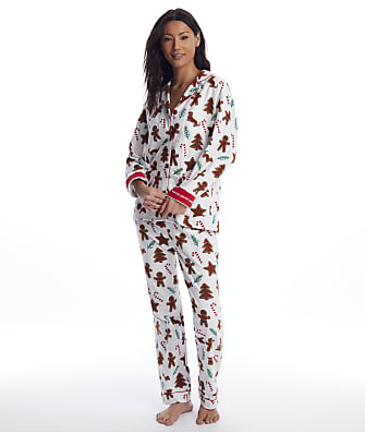 P.J. Salvage Gingerbread Flannel Pajama Set