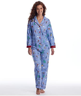 P.J. Salvage I Need Vitamin Ski Flannel Pajama Set