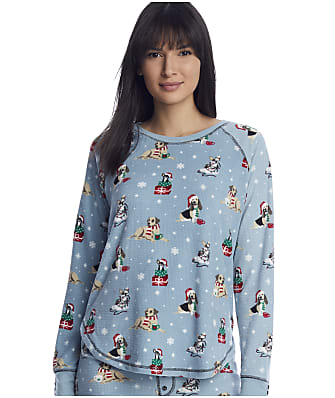 P.J. Salvage Happy Howlidays Waffle Knit Lounge Top