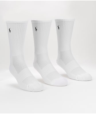 Polo Ralph Lauren Tech Athletic Crew Socks 3-Pack