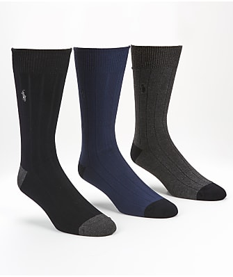 Polo Ralph Lauren Ribbed Crew Socks 3-Pack