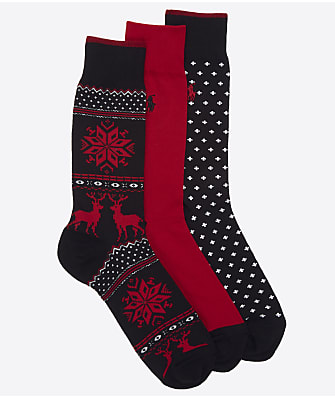 Polo Ralph Lauren Holiday Fairisle Crew Socks 3-Pack