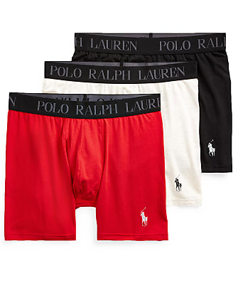 Polo Ralph Lauren 4D-Flex Stretch Cotton Boxer Brief 3-Pack