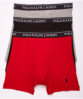 Polo Ralph Lauren Classic Fit Cotton Boxer Brief 3-Pack