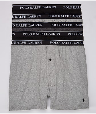 Polo Ralph Lauren Classic Fit Cotton Boxers 5-Pack