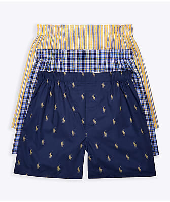 Polo Ralph Lauren Classic Fit Woven Cotton Boxers 3-Pack