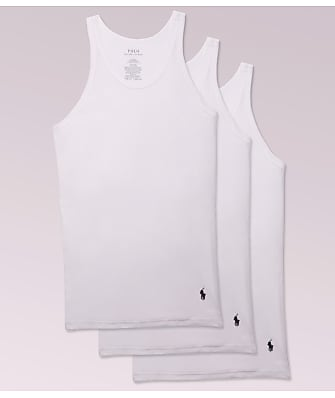 Polo Ralph Lauren Classic Slim Fit Cotton Tanks 3-Pack
