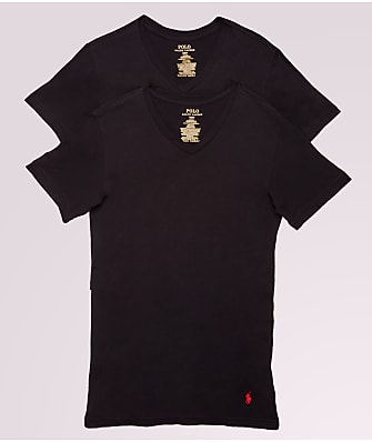 Polo Ralph Lauren Classic Tall Cotton V-Neck T-Shirt 2-Pack