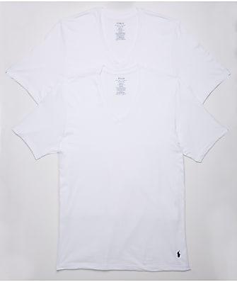 Polo Ralph Lauren Classic Tall Cotton V-Neck T-Shirt 2-Pack