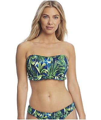 Pour Moi Free Spirit Palm Bandeau Bikini Top