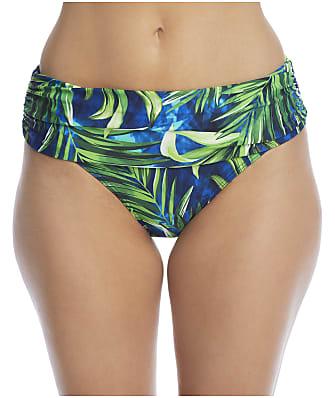 Pour Moi Free Spirit Palm Fold-Over Bikini Bottom