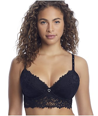 Pour Moi Bling It On Lacey Longline Push-Up Bra