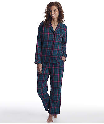 Pour Moi Plaid Flannel Pajama Set