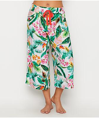 Pour Moi Tropics Cropped Woven Pajama Pants