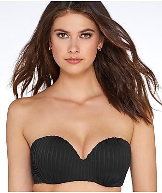Pour Moi Pleated Bandeau Bikini Top