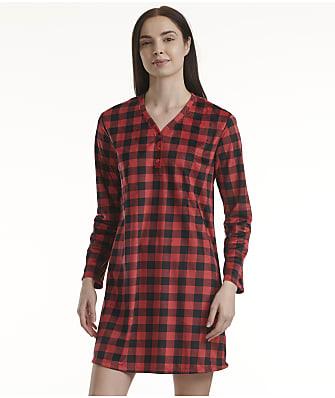 Karen Neuburger Buffalo Plaid Fleece Sleep Shirt