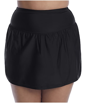 Raisins Curve Plus Size Alicante Solids Bravo Skirted Bikini Bottom