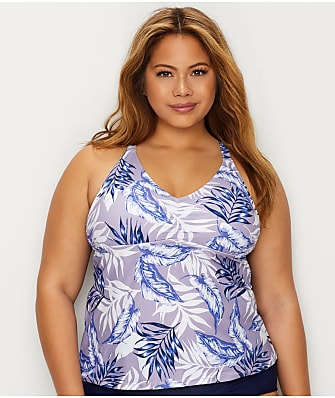 Raisins Curve Plus Size Pacifica Tankini Top
