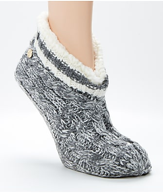 Ralph Lauren Marble Cable Bootie Slipper Socks