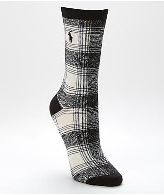 Ralph Lauren Ombre Plaid Trouser Socks