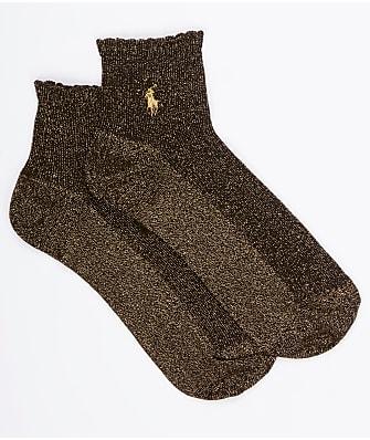 Ralph Lauren Lurex Scalloped Edge Anklet Socks