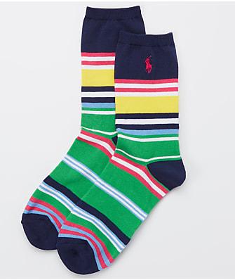 Ralph Lauren Bold Run On Stripe Trouser Socks