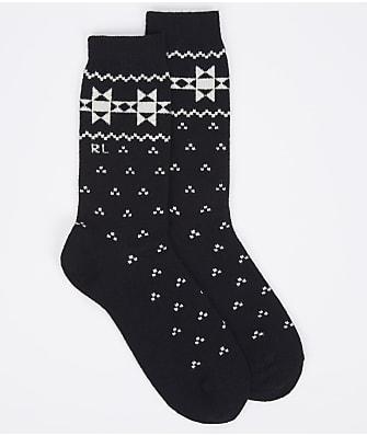 Ralph Lauren Geo Border Crew Socks