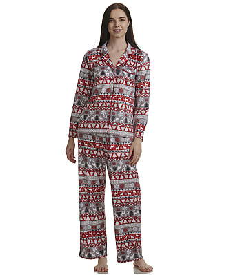 Karen Neuburger Fairisle Fleece Pajama Set