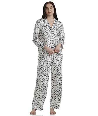 Karen Neuburger Leopard Ivory Fleece Pajama Set