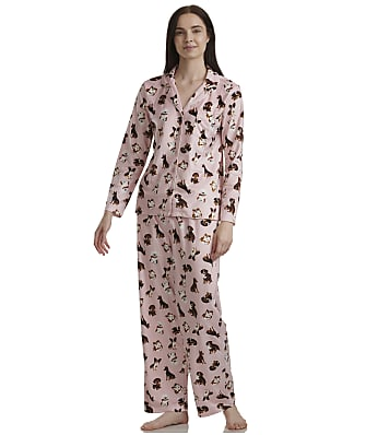 Karen Neuburger Pink Dogs Fleece Pajama Set