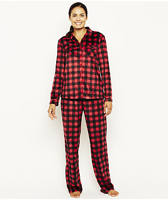 Karen Neuburger Buffalo Plaid Fleece Pajama Set