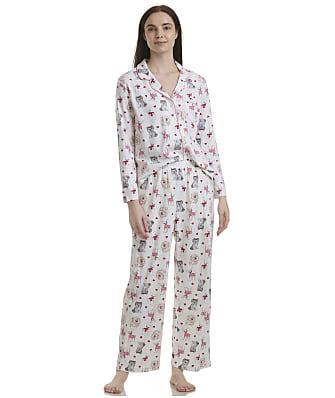 Karen Neuburger Plus Size Cream Dogs Knit Pajama Set