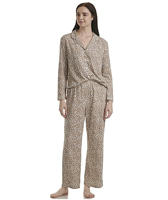 Karen Neuburger Plus Size Leopard Knit Pajama Set