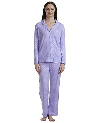 Karen Neuburger Plus Size Purple Dot Knit Pajama Set